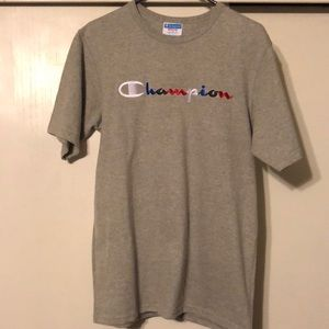 Champion grey embroidered t shirt